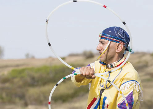 Lawrence Roy Metis hoop dancer